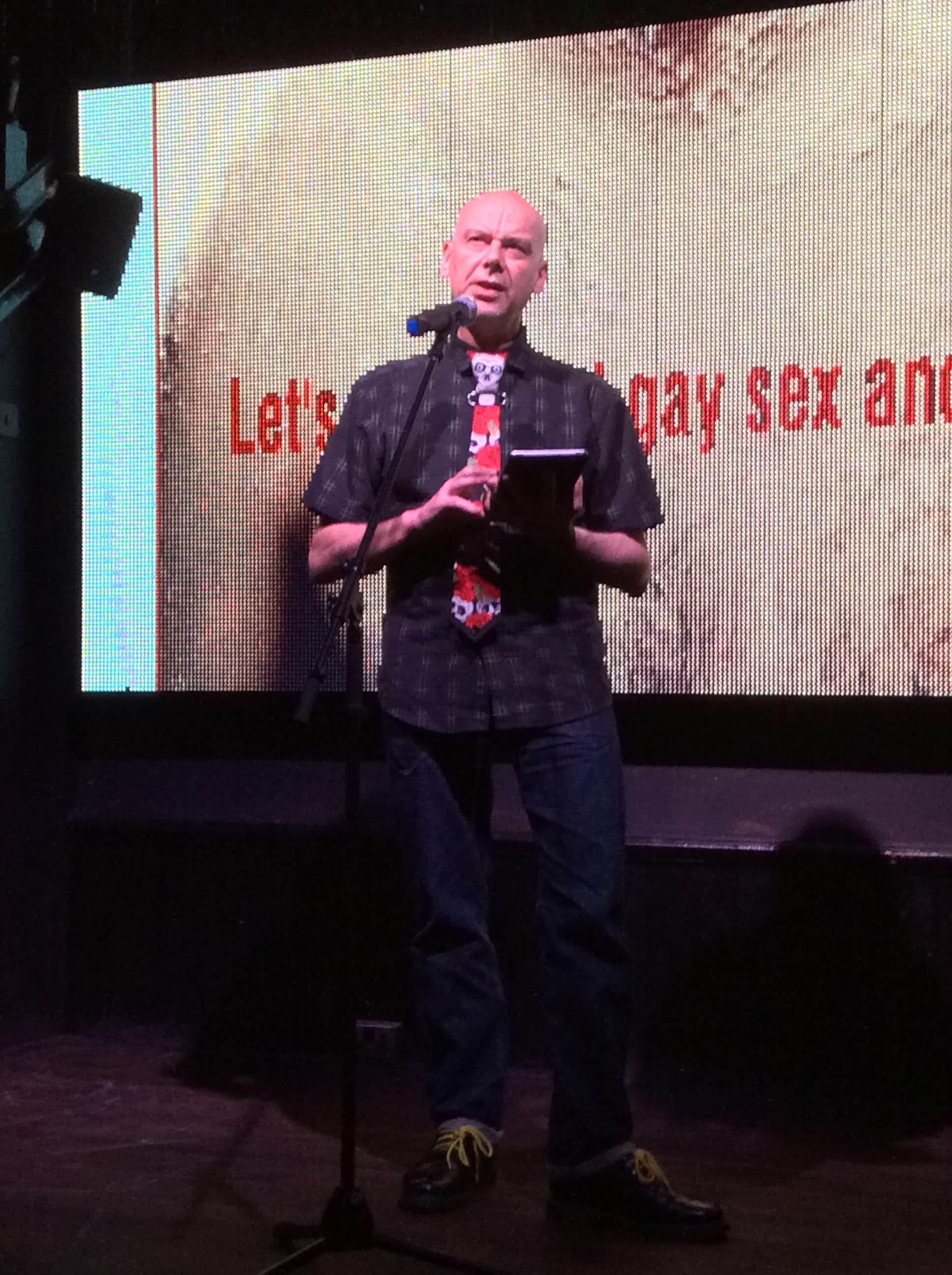 Dominic Davies speaking at Gay Sex & Drugs